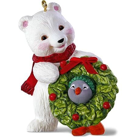 Details about  /Rauch Glass Ball Polar Bear Pink Snow /& Santa Red Snow Christmas Ornament 2019