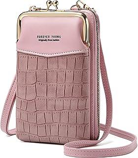 Handytasche zum Umhängen,Damen PU-Leder Geldbörse Crossbody Handy Schultertasche,Umhängetasche Brieftasche mit Kartenfäche...