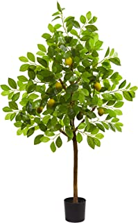 Nearly Natural 4' Lemon Artificial Silk Trees Green