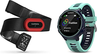 Garmin Forerunner 735XT Bundle, Multisport GPS Running Watch with Heart Rate, Includes HRM-Run Monitor, Midnight/Frost Blue