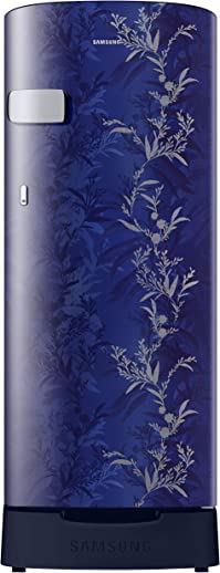 Samsung 192 L 2 Star Direct Cool Single Door Refrigerator (RR19A2Z2B6U/NL, Mystic Overlay Blue, Base Stand with Drawer)