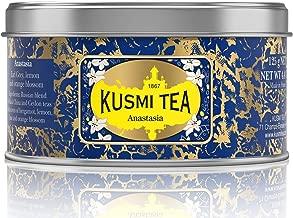 Kusmi Tea - Anastasia - Russian Blend Black Tea with Combination of Bergamot, Lemon, Lime & Orange Blossom Essential Oils - 4.4oz of All Natural Loose Leaf Black Tea in Metal Tin (50 Servings)