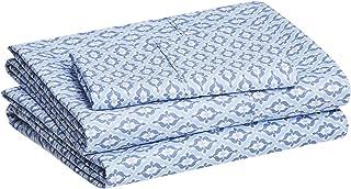 "AmazonBasics Lightweight Super Soft Easy Care Microfiber Bed Sheet Set with 16"" Deep Pockets Twin XL SS8-TXL-BDSK"