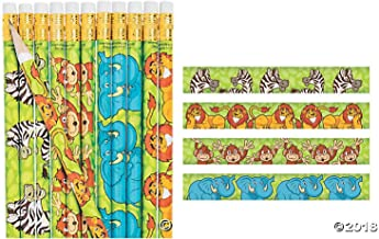 FX 2 Dozen (24) Adorable Safari / Zoo Animal Pencils / Student-Classroom Prizes / Party Favors