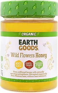 Earth Goods Organic Wild Flower Honey. 100% raw, Unflitered, Pesicide free, 400g