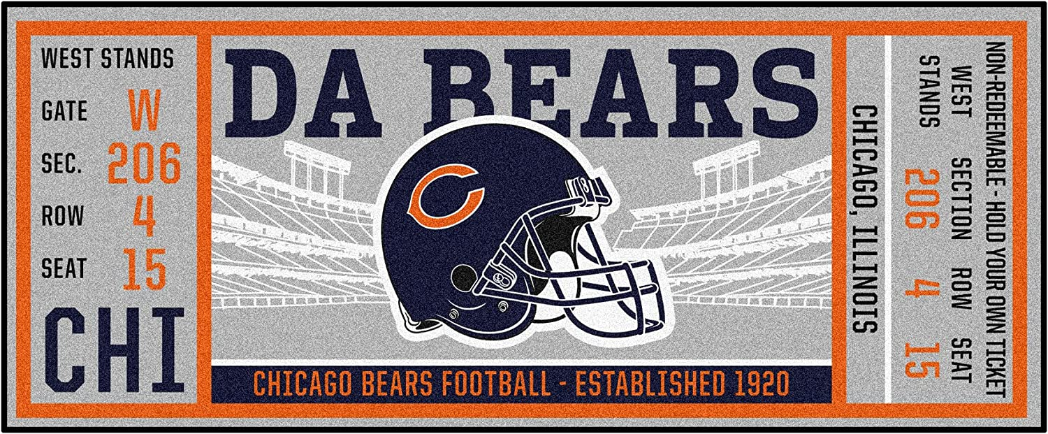 FANMATS NFL Chicago Bears NFL-Chicago Bearsticket Runner, Team Color, One Size