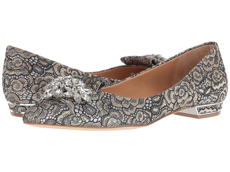 Badgley Mischka Valeria (Pewter Metallic Lace) High Heels
