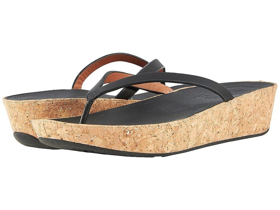 FitFlop Linny Toe Thong Sandals (Black) Women