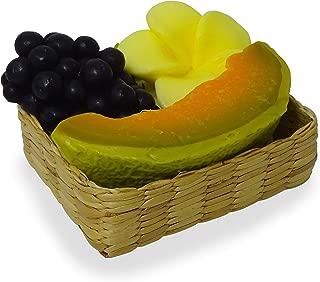 Handmade Tropical Fruit Scented Spa Soap Gift Set(YellowFlower, Grapes, Slice Honey Dew)
