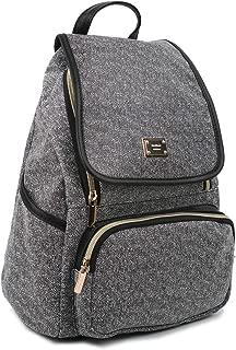 Copi Women's Modern Deluxe Design Fashion Small Backpacks Black