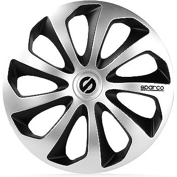 SPC SPC1351L Set 4 Copricerchi Sparco 13 Nero//Grigio Modello Leggera