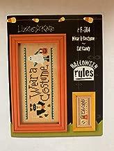 Wear A Costume - Eat Candy (#F-104) Halloween Rules Cross Stitch Chart