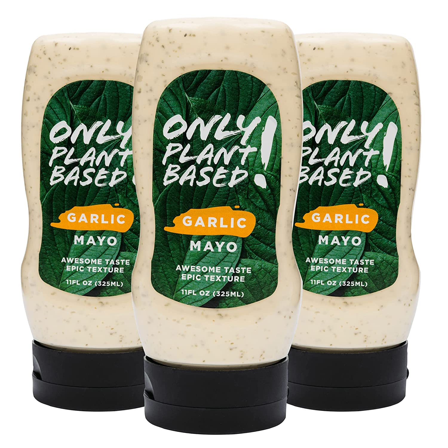 Only Plant Based Vegan Garlic Mayonnaise Fl 11 Bottle Squeeze excellence OFFicial