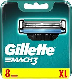 Gillette Mach3 ostrza do golenia, 8 wymiennych ostrzy do golenia na mokro dla mężczyzn z potrójnym ostrzem