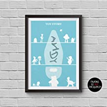 Toy Story Poster Toy Story 1 2 3 Animation Movie Alternative Print Inspired Disney and Pixar Collection To infinity and Beyond Decor Cinema Poster Artwork Wall Art Wall Hanging Cool Gift