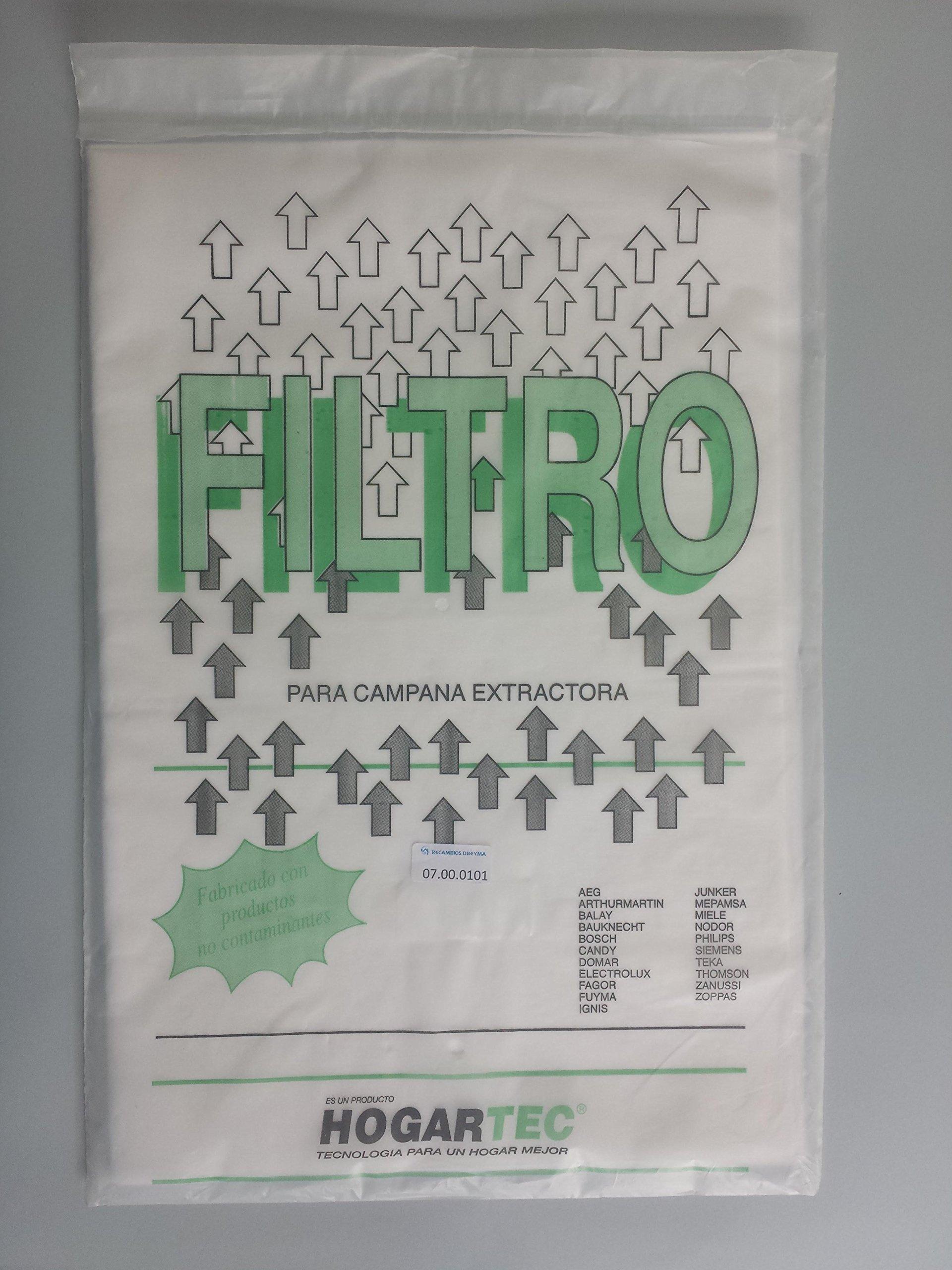 RECAMBIOS DREYMA Filtro Campana Extractor Papel 6 Unidades 60X45: Amazon.es: Hogar