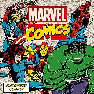 1art1 Marvel Comics Poster Calendar - Superheroes Comic Covers, Official 2020 Calendar (12 x 12 inches)