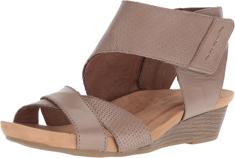 Rockport Woherren Sable 2 Piece Cuff Sandal, New Khaki, 11 M US