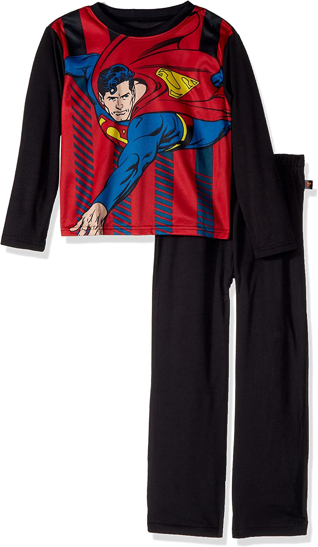 INTIMO Boys' Superman Knock Out Pajama Set