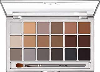 Kryolan Basic Eyes Eyeshadow Palette with 18 Colours Color V 3 Natural 0.7 oz