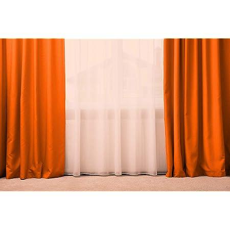 Arancione Tenda a Drappeggio Generico Tenda//Tendone 100/% Seta,137x280 Oppure 300 Tenda Oscurante con Passanti