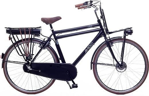 Amigo E-Pulse – Elektrofahrrad für Herren – E-Bike 28 Zoll – Herrenfahrrad mit Shimano 3-Gang – Geeignet ab 175-185 cm – Schwarz
