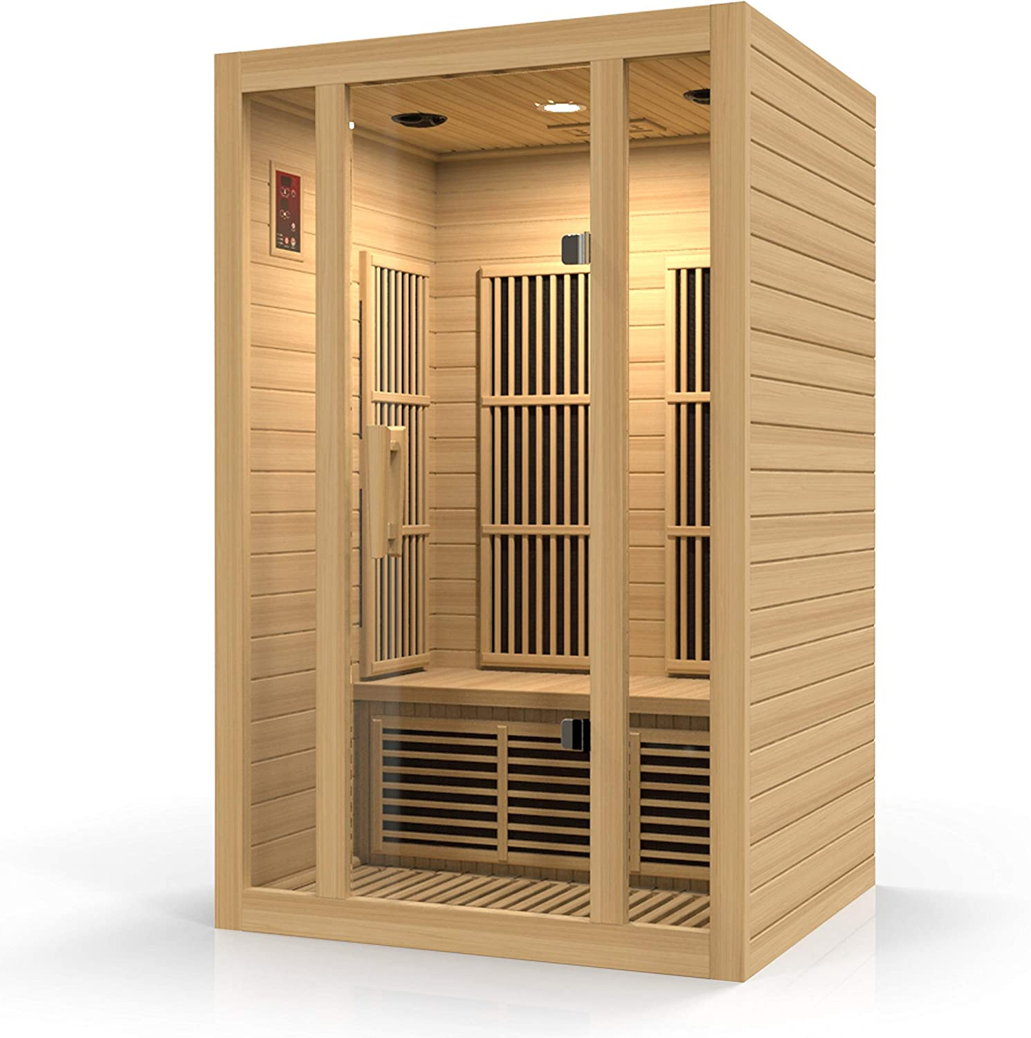Durasage 2-Person Carbon Cheap mail order sales Infrared Sauna Max 56% OFF Woode Canadian Hemlock -