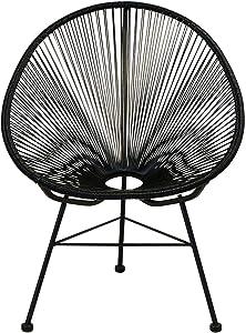 HOME CRAFT DECOR Maya Acapulco Hammock Inspired Papasan High Back Outdoor/Indoor Chair