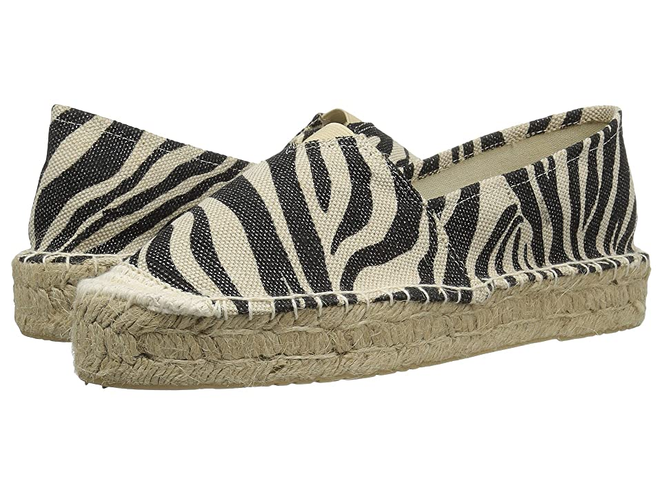 Dirty Laundry Elson Espadrille (Black/White Zebra) Women
