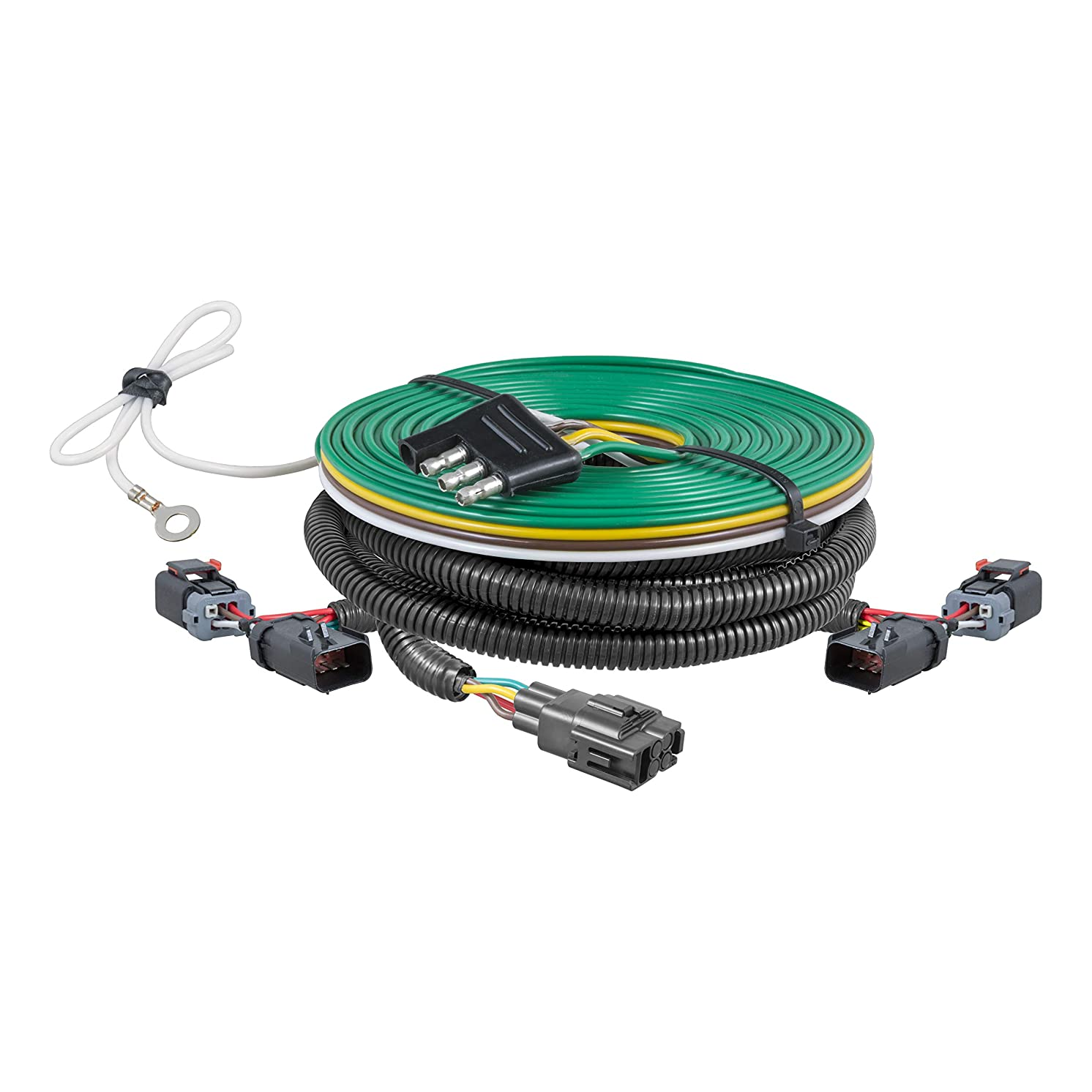 CURT 58917 Custom Towed-Vehicle RV Wiring Harness for Dinghy Towing Select Jeep Liberty