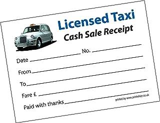 3recibos de taxi con impresión profesional