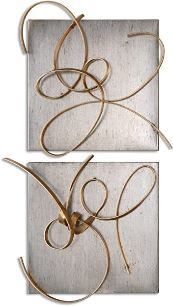 Uttermost Harmony Hand Forged Metal Abstract Wall Art Decor 2 Piece 07071