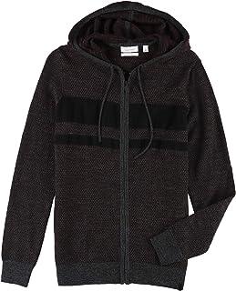 Calvin Klein Mens Chest Stripe Hoodie Sweatshirt