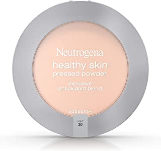 Neutrogena Healthy Skin Pressed Makeup Powder Compact with Antioxidants & Pro Vitamin B5, Evens Skin Tone, Minimizes Shine & Conditions Skin, Light 20,.34 oz