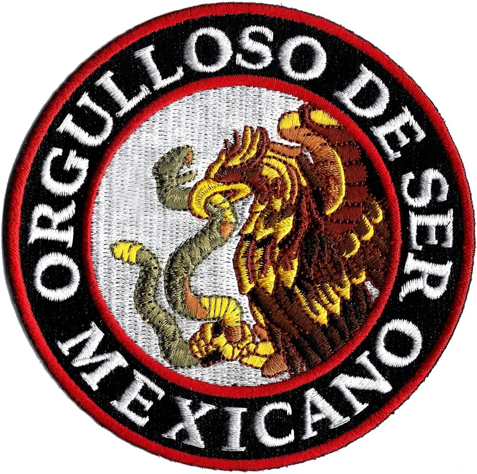 Orgulloso OFFer De Ser Mexicano Embroidered Be to At the price of surprise Proud Patch Mexican