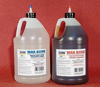 MAX Bond Low Viscosity Marine Grade Epoxy Resin 2 Gallon Kit for Fiberglass Lay Up, Boat Building, Deck Repair, Wood Rot Repair, Reinforcing, Stabilizing, Bonds to Metal Wood FRP Hulls