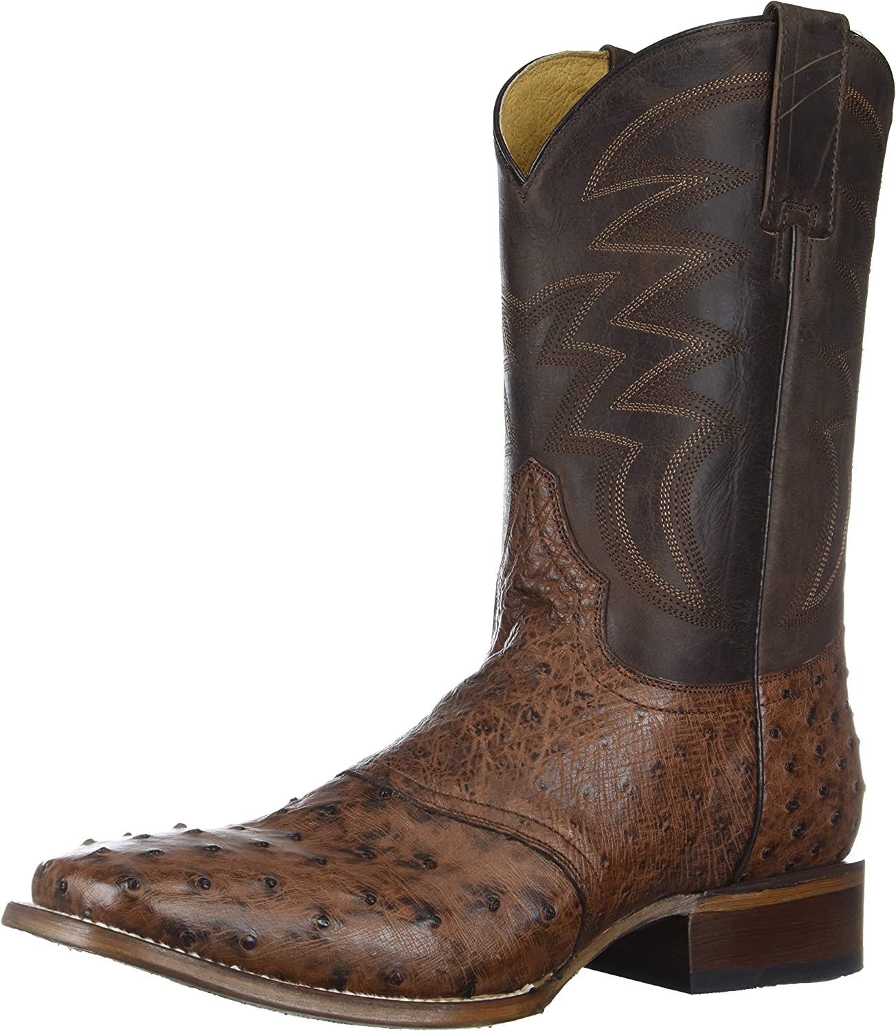 ROPER Men's Deadwood Ostrich Leg Boot Square Toe