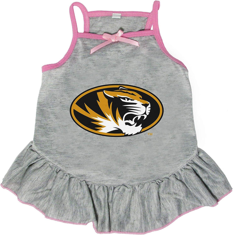 Littlearth NCAA Missouri Max 84% OFF Tigers Phoenix Mall Pet Dress Medium