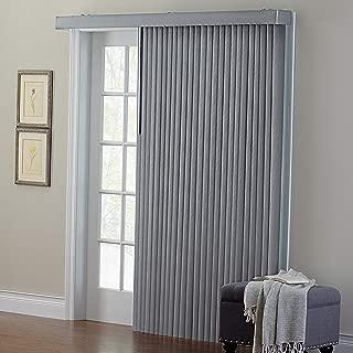 BrylaneHome Embossed Vertical Blinds - Grey, 90I W 84I L