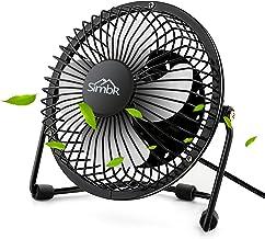 SIMBR Mini Ventilador USB de Mesa 4 Pulgadas con Rotación de 360 ° Mini Fan con 4 Aspas Metales para Hogar y Oficina