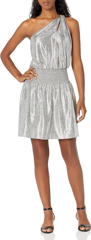 Ramy Brook Women's Nadya One Shoulder Metallic Mini Dress