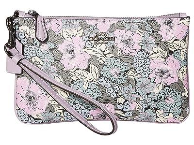 COACH Small Wristlet (V5/Soft Lilac Multi) Handbags