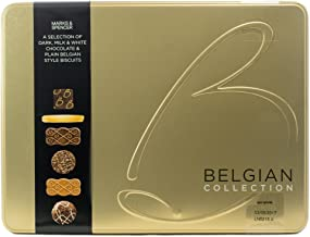 M&S Marks & Spencer Belgian Collection Biscuit Tin 400g (14.1oz) - Selection of Plain & Chocolate Belgian Biscuits