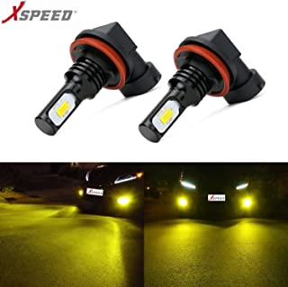 XSPEED Extremely Bright 3200 Lumens Newest Version 3570 CSP-Chips LED Fog Light Bulbs JDM Gold Yellow use for Fog Lights (H11/H8/H16)