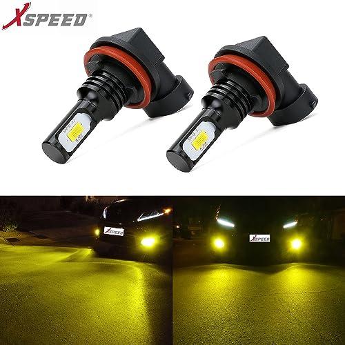 XSPEED Latest Version CSP 3570-Chips Extremely Bright 3200 Lumens LED Fog Light Bulbs JDM