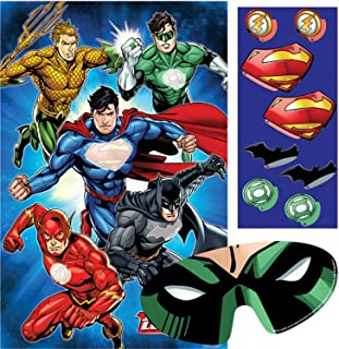 Boys Girls Birthday Party Celebration Fun Novelty Party Game Decorations Justice League Batman Superman Aquaman Flash Green Lantern (Party Game)
