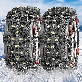 MATCC タイヤチェーン 非金属チェーン スノーチェーン 雪道・砂道・泥道 タイヤ滑り止め 冬の必需品 ジャッキアップ不要 取付簡単 タイヤフルカバー(タイヤ2本分) XF6 日本語説明書付き