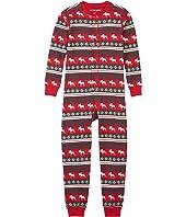 Fair Isle Moose Union Suit (Toddler/Little Kids/Big Kids)