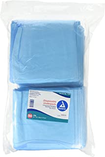 Blue Disposable Underpads (Chux), Large Size 23 X 36, 2 packs (100 count)