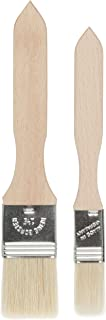 Redecker Pastry Brushes with Untreated Beechwood Handles, Set of 2, Multi-purpose Brushes with Natural Boar Bristles for Basting, Glazing and More, 7-1/2 inches and 8 inches, Made in Germany